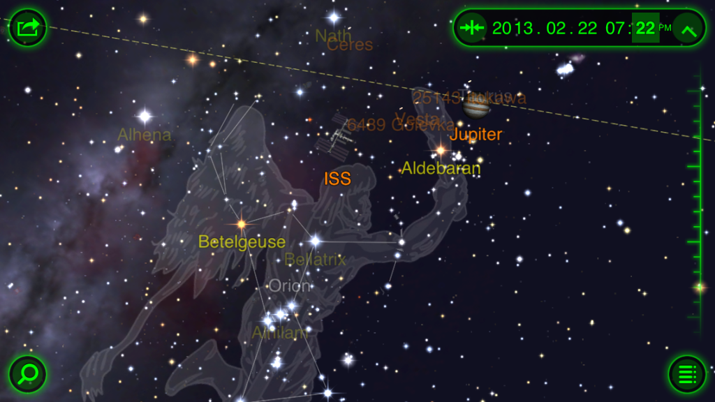 The ISS in Star Walk