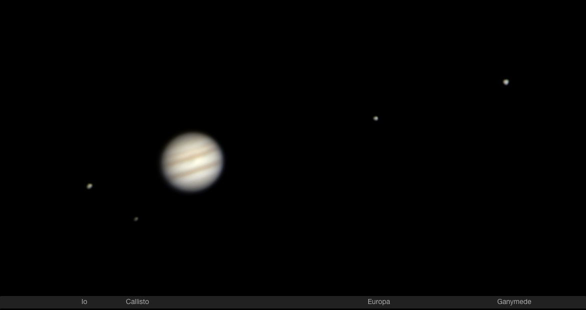jupiter and moons through telescope - photo #45